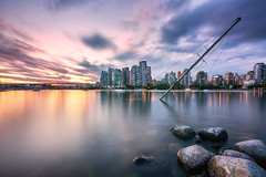 False Creek Shipwreck (denny.yang) Tags: city blue sunset vancouver clouds creek boat long exposure cityscape none sony yang shipwreck hour denny sunken false a7rii a7rm2 dennyyang