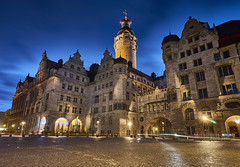 Rathaus by night, Leipzig, Germany (swissukue) Tags: light building tower architecture night germany sony leipzig rathaus a7 ilce7