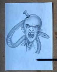Zombie Pencil Drawing (mefefirat) Tags: art tattoo illustration pencil ink pencils sketch artist arty arte drawing zombie sketching arts drawings sketchbook sketchs draw draws inked pencilart pencildrawing zombieart