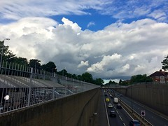 Outlook unsettled (Boxley) Tags: road sky cloud storm london a2 cloudscape cumulonimbus eltham rochesterwayreliefroad pileuscloud