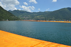 The Floating Piers Monte Isola (salvatorefiguccia) Tags: italy lake art lago island italia contemporary installation monte gangplank christo isola gangway iseo