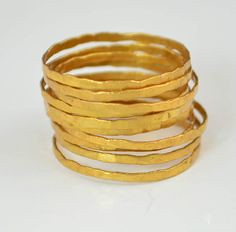 Super Thin 24K Gold (alaridesign) Tags: super thin 24k gold vermeil stacking ring these rings 16 each choose number you want from quantity pulldown elegant rustic original is alari