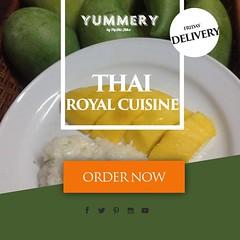 """""""ข้าวเหนียวมูน & มะม่วงน้ำดอกไม้"""" - อาหารไทย คาว หวาน เสาร์ - พุธ : เลือกรายการอาหาร พุธ : ชำระค่าอาหารภายในเที่ยงวัน ศุกร์ : นั่งอยู่ที่บ้านรอ Yummery นำอาหารไปส่ง #อาหารตามสั่ง #อาหารตำรับชาววัง #thairoyalcuisine #อาหารทานช่วงวันหยุด #อาหารไทยโบร"""