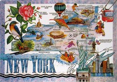 1512_NY_State Map_Ketzia (Kille.wips) Tags: new york nyc usa postcard