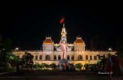 Ho Chi Minh Cityhall (axxonlive) Tags: city longexposure nightphotography travel light monument night landscape neon sony country structure vietnam saigon hochiminh lightroom travelandlife nex5t