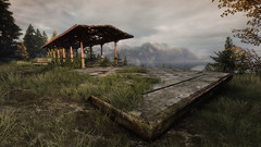 VOEC - 020 (Screenshotgraphy) Tags: bridge sunset mountain lake game nature water colors contrast forest landscape soleil screenshot gare lumire lac ethan steam gaming beaut carter concept paysage vanishing campagne foret beautifull jeu naturelle urbain