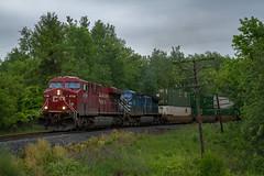 Stacks in the Rain (Ryan J Gaynor) Tags: railroad rain forest rainy canadianpacific cp railfan waterdown railroading cefx codeline hamiltonsubdivision cp142