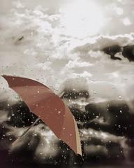 Sun Shower (AspirePhotography1) Tags: sun rain clouds umbrella photoshop photography photograph l layers facebook aspire overlays twitter aspiretoinspire instagram aspirephotography lmulhollandphotography