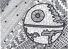 Thats not a small moon (Manurnakey) Tags: starwars postcard doodle handdrawn maythe4th zentangle zendoodle