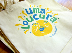 Beach bags! (Cahoots Design) Tags: ocean summer brazil food beach water illustration ma fun happy cuisine aquarium salad crazy dish natural market provincetown capecod massachusetts traditional uma culture deck chef snack pastry flavio brazilian snacks dishes olympics tradition pastries brand salada savory salgadinhos doces branding banding bebidas entree cahoots loucura tagline umaloucura cahootsdesign