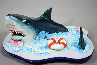 Circling Shark Birthday cake