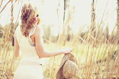 (Marschie) Tags: summer sun tree cute sexy nature girl field hat fashion canon hair photography glamour shoot dress legs curls curly marschie