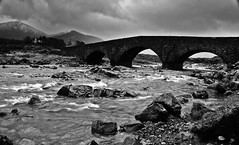 Raindrops keep fallin' on my lens... (SLy-ire) Tags: uk longexposure bridge summer sky mountains skye water canon river landscape scotland rocks slow outdoor may nd canon5d amateur isle sinead ndfilter landscapephotography slowwater 2013 ndgrad canon24105mm canon5dmarkii slyire