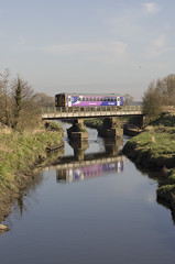 Bridge over the River Douglas (Get my anorak George) Tags: rufford leyland northernrail railbus class153 153360