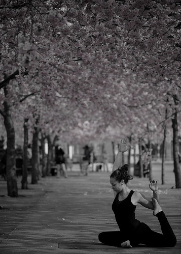 Workout under the cherry tree.(Explore)