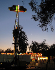 Carnival Ride and New Moon in NoHo (Robb Wilson) Tags: carnival noho newmoon magichour carnivalrides northhollywood