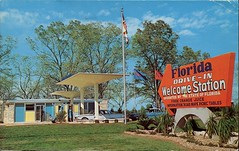 Florida Welcome Station, Drive-In, Havana, Florida (SwellMap) Tags: road signs monument public sign vintage advertising design 60s highway gate arch fifties message postcard suburbia entrance style kitsch retro billboard route nostalgia chrome freeway gateway billboards americana 50s lettering welcome roadside populuxe sixties babyboomer consumer coldwar midcentury spaceage atomicage archwaypc