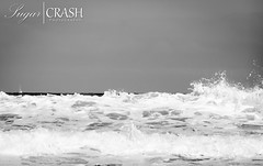 Waves (OmegaMoth) Tags: ocean california sea blackandwhite bw white motion black green nature water monochrome beautiful blackwhite monterey movement nikon monochromatic september pacificocean dslr westcoast 2012 d7000 nikond7000 sugarcrashphotography