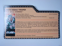 G.I. Joe Club  Iceberg  File Card (BurningAstronaut) Tags: trooper modern club real gijoe toy actionfigure cobra action joe file assault arctic card american hero figure era iceberg collectors exclusive gi loose membership bagged realamericanhero filecard modernera gijoecollectorsclub arcticassaulttrooper