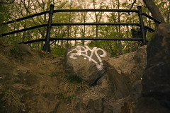 Rip Jays (Pabstman) Tags: street longexposure streetart streets green art nature rock metal night graffiti weed woods paint mud mtl montreal destruction tag graf bad dirty spray pot dirt drugs spraypaint graff grime destroy graffitiart grimy gime montrealgraffiti mtlgraff