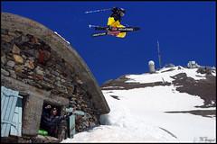 Pic du Midi gap (FloArmengaud) Tags: snow ski mountains jump freestyle gap pic du safety midi freeride pyrenees freeski coreupt