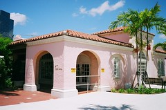 West Palm Beach Seaboard Air Line Train Station (Phillip Pessar) Tags: west film beach station train freedom fuji minolta florida places palm historic national 200 depot register dual cvs c41 placs