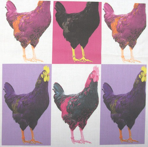 Pop Pink Purple Art Chook Chook Chook