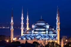 Blue Mosque by night #2 (Michael Gunzert) Tags: blue night turkey view magic istanbul mosque lovers sultan bluehour bluemosque ahmed minarets blaue sultanahmed moschee istanbullovers