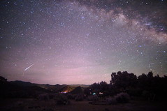 Meteor with Milky Way