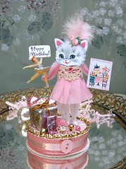 Pink Birthday Kitty~ (saturdayfinds) Tags: birthday pink party whimsy kitty birthdayparty paperdoll diorama whimsical keepsake partyfavor birthdaykeepsake saturdayfinds