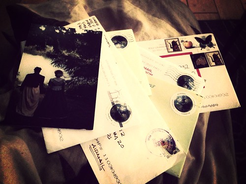 Came home after a while away and found a stash of letters in the #post!