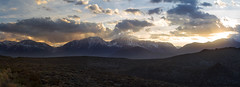 Sierra Nevada Sunset (Dory Breaux Photography) Tags: california light sunset sky panorama mountain lake snow mountains clouds last mono spring big sundown side nevada grand sierra east