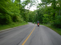 Charlie and Deb in Sharon Woods (bonegirl) Tags: beer bike night stand track scooters adventures root rc rbs the rockfield