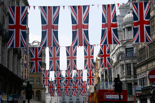 Union Flags on Coventry Street
