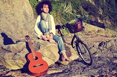 2.Jon (Javier Ferdo) Tags: beach model guitar guitarra playa modelo hippie bizkaia euskadi vizcaya basquecountry laga bycicle pasvasco modelboy modelohombre