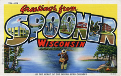 Greetings from Spooner, Wisconsin, In the Heart of Indian Head Country - Large Letter Postcard (Shook Photos) Tags: camping camp lake fish wisconsin fishing fisherman linen postcard tent canoe campfire postcards flyfishing greetings aspen fishingpole linenpostcard creel spooner bigletter spoonerwisconsin largeletter largeletterpostcard flypole linenpostcards largeletterpostcards bigletterpostcard bigletterpostcards v24a14 1bh151