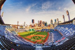 Sunset from behind home plate at PNC Park HDR (Dave DiCello) Tags: morning winter snow sunrise river dawn nikon downtown pittsburgh fisheye mtwashington barge westend hdr kennywood pncpark ohioriver daybreak heinzfield robertoclemente sunflare cathedraloflearning armstrongtunnel pittsburghskyline mtlebanon mellonarena westendbridge d600 civicarena kennywoodpark lostkennywood pittsburghpenguins pennsylvanian pittpanthers immaculateheartofmarychurch d700 d40x gradiants consolenergycenter hdrexposed kecksburgufo