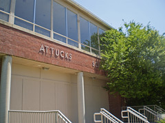 Attucks School (rushforsutherland) Tags: old school abandoned high closed doors decay kentucky ky steps front doorway abandon junior middle derelict segregation enry attucks segregated
