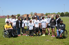 Spirit Wichita volunteers helped at the Challenge Games on May 11 - a track, field and boccia competition for physically challenged athletes. (Spirit AeroSystems) Tags: spirit wichita volunteerism spiritaerosystems spiritaero