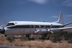 N22SN_Viscount_KTUS_297 (Mike Head - Jetwashphotos) Tags: arizona sunlight hot southwest sunshine desert bright dry sunny az clear parked popular tus arid vickers 744 viscount pressurized tucsonairport ktus lowwing britishmade britishbuilt highcirrus vickers744viscount tucsoniap vickers744 fourenginetransport rollsroycedarts exgogroup