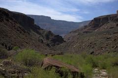 Hike to Ribbon Falls (angelatravels11) Tags: park grand canyon falls national ribbon grandcanyonnationalpark canyonnational backpackinggrandcanyon 20080402 angelatravels backpackingthegrandcanyon parkhikeribbon