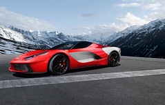 LaFerrari Silver Arrow (Nike_747) Tags: winter red italy horse white car silver italian italia power super ferrari exotic hyper arrow carbon supercar based hre 458 2013 hypercar laferrari naksphotographydsign