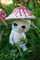 Mick-Oze the mushroom: Hello, I'm bad ! (The Maman Panda) Tags: pet cute mushroom doll artist bjd tendres chimeres