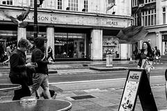 . (Mario Mitsis) Tags: road street city greatbritain england people urban blackandwhite bw motion london blancoynegro public canon walking unitedkingdom britain pavement candid streetphotography streetlife places scene sidewalk human gb metropolis digitalphotography pavements londonist capitalcity londonstreetlife eos5d blancoenero capitalcitiy mariomitsis townuk