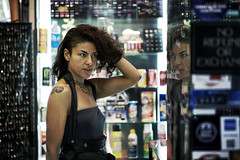 IMG_4737SP (janwellmann) Tags: reflection girl hair store posing mirrorimage mirroring