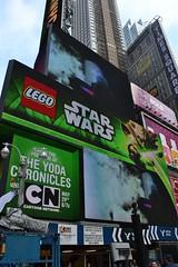 Yoda Chronicles adverts (vynsane) Tags: yoda lego timessquare xwing chronicles cartoonnetwork timessq starfighter xwingstarfighter nikond3100 yodachronicles legoyodanyc largestlegomodelever