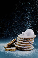 Igloo (Powdered Sugar) (Dina Belenko) Tags: winter white house mountain snow cold ice cookies silhouette rock paper baking hill pole pastry icing blizzard pour icingsugar igloo eskimo northpole