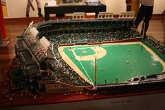 LEGO Wrigley Field (Fred_T) Tags: art canon rebel lego stadium kentucky louisville wrigleyfield louisvilleslugger xti seankenney louisvillesluggermuseumandfactory bigleagueslittlebricks