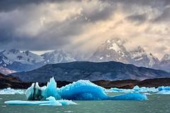 blue mountains (ThomasMueller.Photography) Tags: blue sky patagonia sun mountain lake ice argentina berg landscape see wolken glacier blau gletscher eis landschaft sonne lagoargentino argentinien patagonien