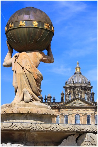 CASTLE HOWARD FROM THE ATLAS FOUNTAIN
